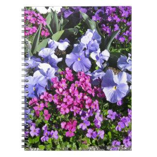 Purple Spring Flowers Notebooks