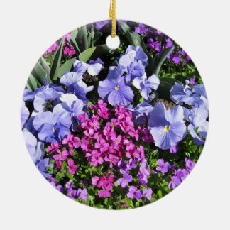 Purple Spring Flowers Ornament