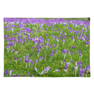 Purple Spring flowers placemat