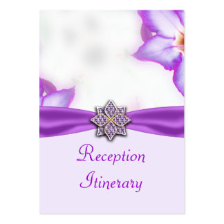 Purple Spring Flowers Watercolor Wedding Business Card Templates