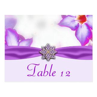 Purple Spring Flowers Watercolor Wedding Postcard