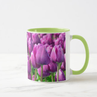 Purple spring tulip coffee mug