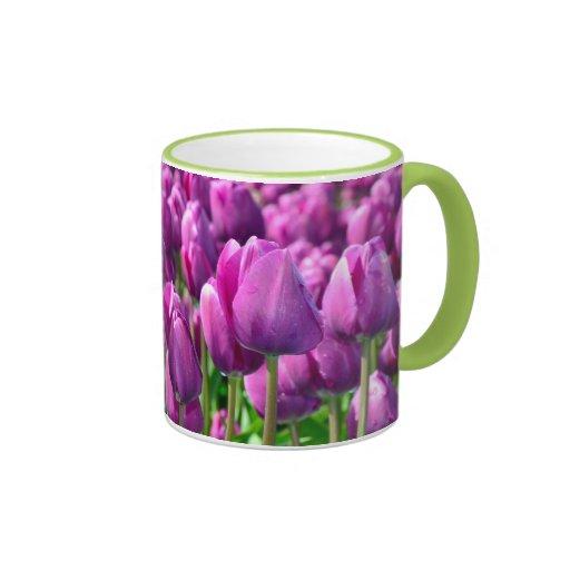 Purple spring tulip coffee mug