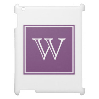 Purple Square Monogram Cover For The iPad