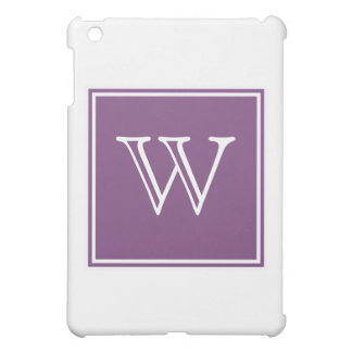 Purple Square Monogram Cover For The iPad Mini