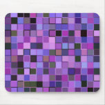 Purple Squares Mouse Mat