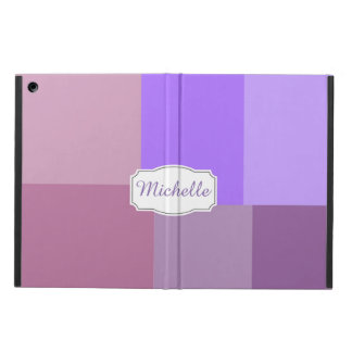 Purple squares&rectangles iPad air case