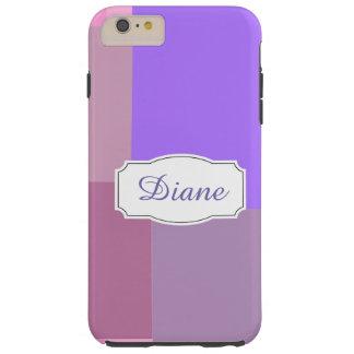 Purple squares&rectangles tough iPhone 6 plus case