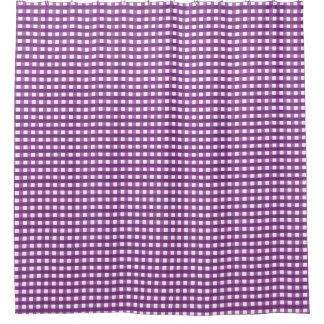 Purple Squares Shower Curtain