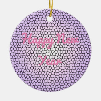 Purple Stained Glass Design Ornament