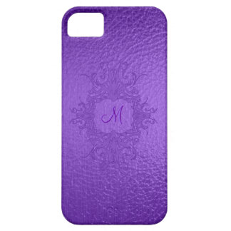 Purple Stained Glass Look-Custom Monogram Barely There iPhone 5 Case