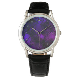Purple Stained Glass Watch by Julie Everhart