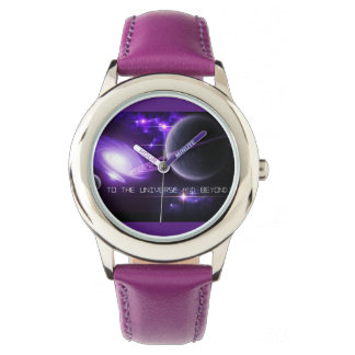 Purple Stainless Steel Kids Watch-Universe & Beyon Watch