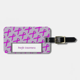 Purple Standard Ribbon by Kenneth Yoncich Luggage Tag