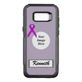 Purple Standard Ribbon Template by Kenneth Yoncich OtterBox Commuter Samsung Galaxy S8+ Case