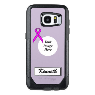 Purple Standard Ribbon Template by Kenneth Yoncich OtterBox Samsung Galaxy S7 Edge Case
