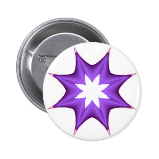 Purple Star 6 Cm Round Badge
