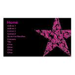 purple star business card template
