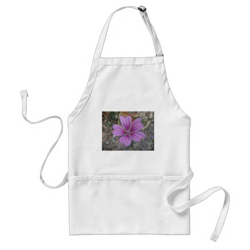 Purple star flower aprons