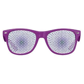 Purple Star Fractal Festive Party Glasses