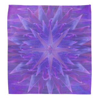 Purple Star Mandala Bandana