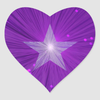 Purple Star sticker star heart
