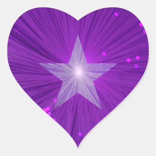 Purple Star sticker star heart