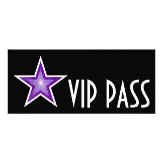 Purple Star 'VIP PASS' invitation black long