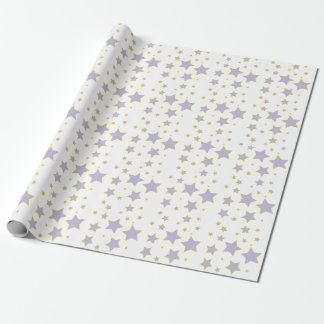 Purple Star Wrapping Paper