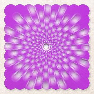 Purple starburst mandala coasters