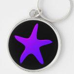 Purple Starfish Key Chains