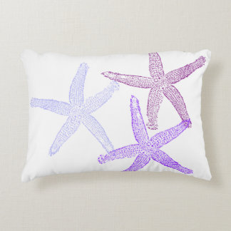 Purple starfish pillow