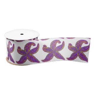 purple starfish Thunder_Cove any color Satin Ribbon