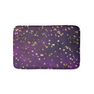 Purple Starry Night Bath Mat