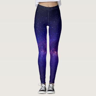 Purple Starry Night Galay Leggings