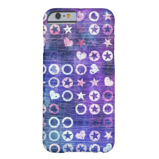 Purple Stars And Hearts Barely There iPhone 6 Case
