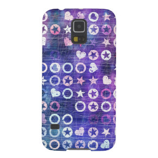 Purple Stars And Hearts Galaxy S5 Cover