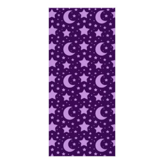Purple stars and moon patterns customized rack card