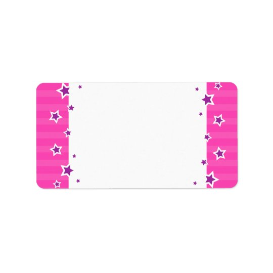 Purple stars and pink border blank custom labels