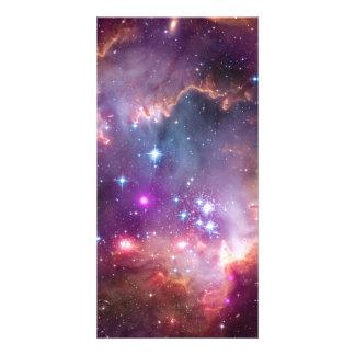 Purple Stars Galaxy Space Astronomy Photo Card