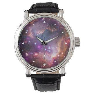 Purple Stars Galaxy Space Astronomy Wristwatches