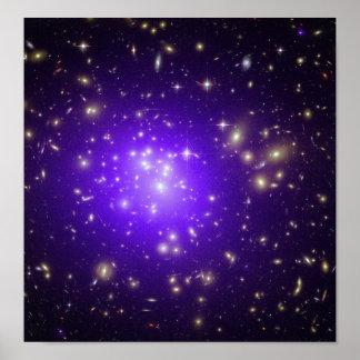Purple stars haze in space NASA Poster