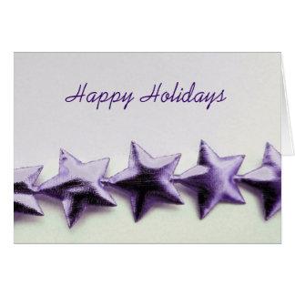 Purple Stars Holiday Card