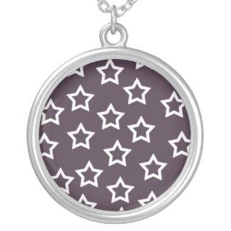 Purple Stars Necklace
