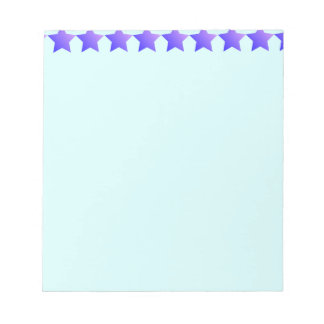 Purple stars notepad