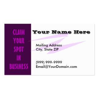 Purple Statement Business Card