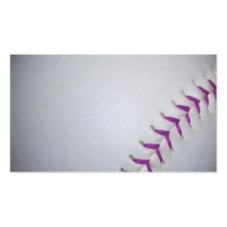 Purple Stitches Baseball / Softball Business Card