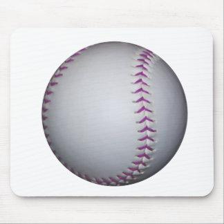 Purple Stitches Baseball / Softball Mouse Pad