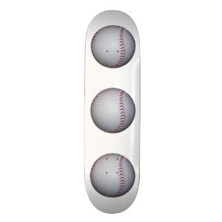 Purple Stitches Baseball Softball Skate Deck