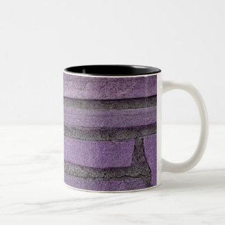 purple stones Two-Tone coffee mug
